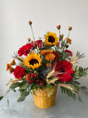 Buckets of Wheat  in La Grande, OR   FITZGERALD FLOWERS