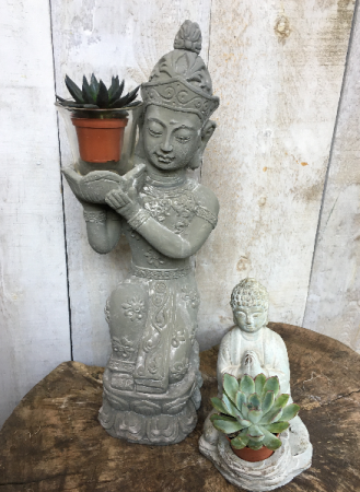 Buddha Candle holders can also be small succulent holders