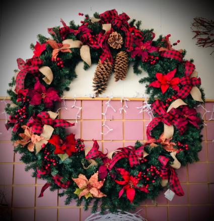 Buffalo Check Plus Extra Large Wreath