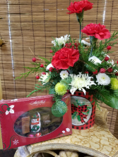 Buffalo Plaid Container and Chocolates