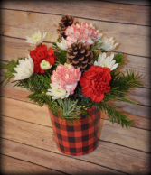 Buffalo Plaid Flower Container