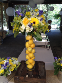 Buffet Arrangements w/Lemons Buffet Centerpiece