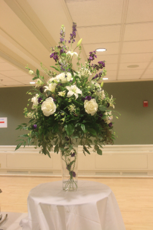 Buffet Table Centerpiece Fresh Vased Arrangement in Farmville, VA | CARTERS FLOWER SHOP