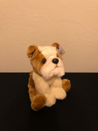 Bulldog Puppy Stuffed Plush