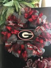 Bulldog Wreath