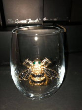 Bumble Bee Stemless Glass