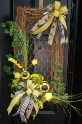 Bumblebee Wreath Silk Wreath