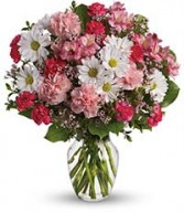 Bunch of Love Vase Arrangement of Fresh Flowers