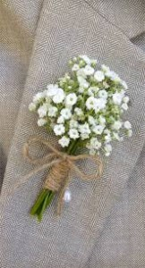Bundle of babies breath Boutonniere