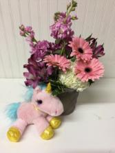 Bundle of Joy-Baby Girl with Unicorn Animal