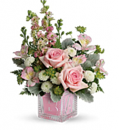 Bundle of Joy Pink Bouquet    TNB10-1 Keepsake Arrangement