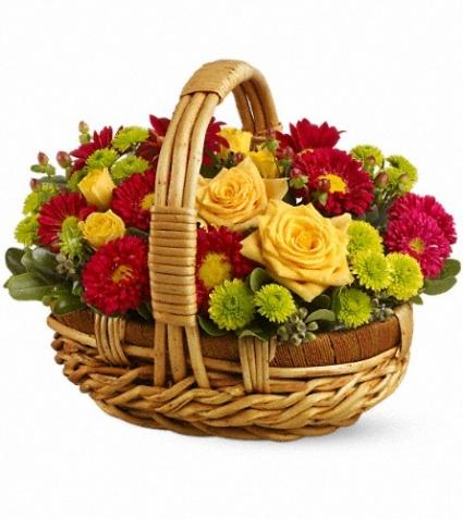 Bundle of Sunshine Basket Arrangement