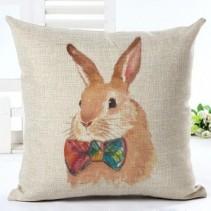 Bunny #1 ($35.00 set) Cotton LinenPillow 18x18 inches