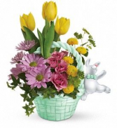 Bunny Hug Flower Arrangement
