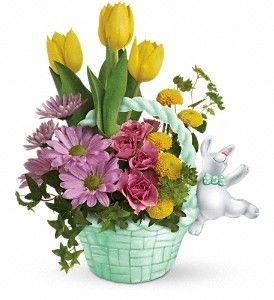 Bunny Hug Flower Arrangement