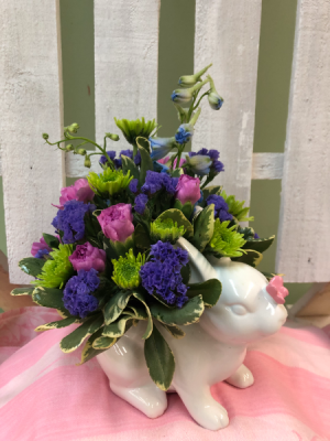 Bunny Love!  Arrangement  in Springfield, VT   WOODBURY FLORIST