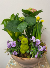 Bunny Planter Terracotta Bowl