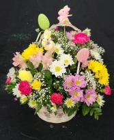 Bunny-tastic Fresh Floral Easter Arrangement