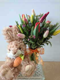 Bunny & Tulips             **Local Only** **Styles May Vary**
