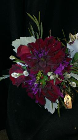 Burgandy Bliss Bridal Bouquet