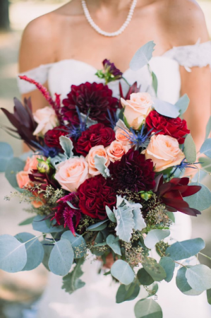 Burgundy Beauty Bouquet  Wedding  in Trumann, AR | Blossom Events & Florist