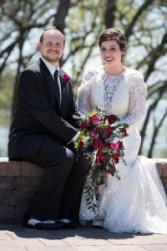 Burgundy & Black wedding Photo Cred: Justin Baysinger Photography
