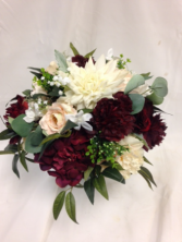Burgundy, Blush and Ivory Bridal Bouquet