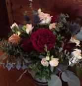 Burgundy & Blush  Reception Flowers