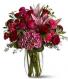 Burgundy Blush  Vase