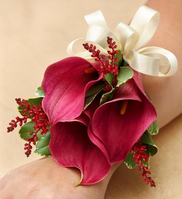 Burgundy Calla Lily Corsage In Croton On Hudson Ny Cooke S