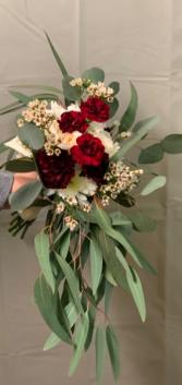 Burgundy & Cream Wedding Bouquet