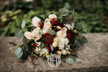 Burgundy & Creme Bridal Bouquet
