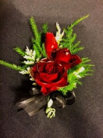 Burgundy Crush Triple Stack Rose Boutonniere