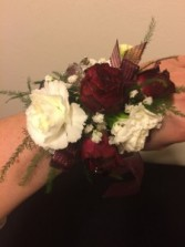 Burgundy Crush Wrist Corsage