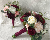 BURGUNDY FALL BOUQUET Roses, carnations, and more