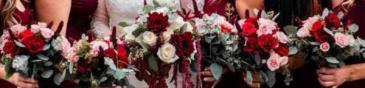 Burgundy Inspired  Wedding Party