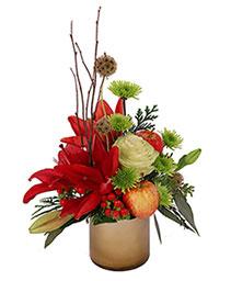Burgundy Lily Blossoms Floral Design
