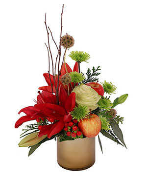 Burgundy Lily Blossoms Floral Design in Ozone Park, NY | Heavenly Florist