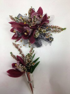 Burgundy Orchids Coordinating Set Abloom Original in Walkersville, MD | ABLOOM LTD