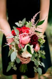 Burgundy/Pink Bridesmaid Bouquet