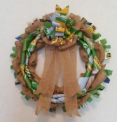 Burlap and Bags Service Wreath