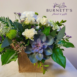 Burlap and Bliss Vase Arrangement in Kelowna, BC | Burnett's Florist