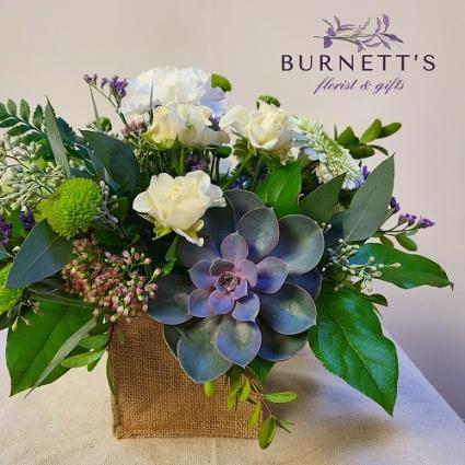 Burlap and Bliss Vase Arrangement
