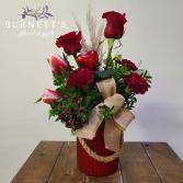 Burlap Beau Vase Arrangement