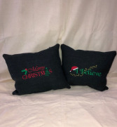 Burlap Christmas Pillows  Custom