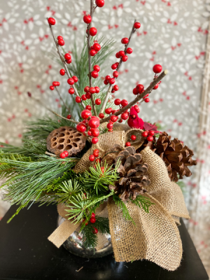 Burlap Rustic  christmas in Airdrie, AB | Flower Whispers