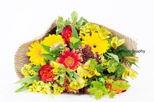 Burlap Wrapped Bouquet Cut Flowers in Fredericton, NB | GROWER DIRECT FLOWERS LTD