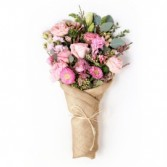 Burlap wrapped bouquet Wrapped