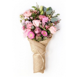 Paper Wrapped Bouquet Floral Arrangement