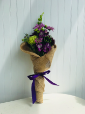 Burlap Wrapped Fresh Floral